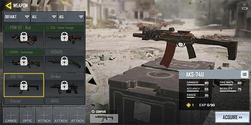 armes dans Call of Duty