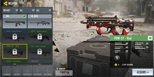 armes Call of Duty